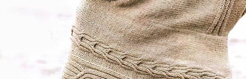 Вязание туники летучая мышь спицами
