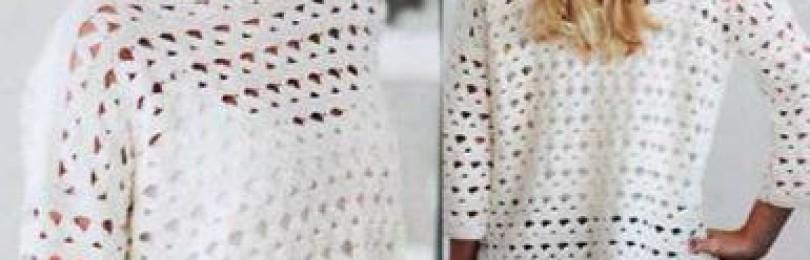 Вязание крючком свитер женский для начинающих