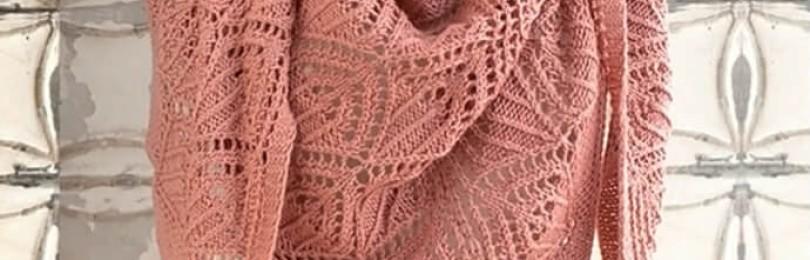 4 варианта вязания спицами ажурной шали в французском стиле