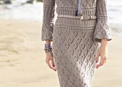 4 модели одежды вязаных в стиле бохо