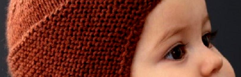 Детская шапка с ушками вязаная спицами с описанием