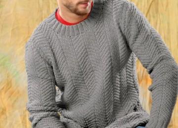 25 моделей мужских джемперов вязанных спицами со схемами, описаниями и видео МК