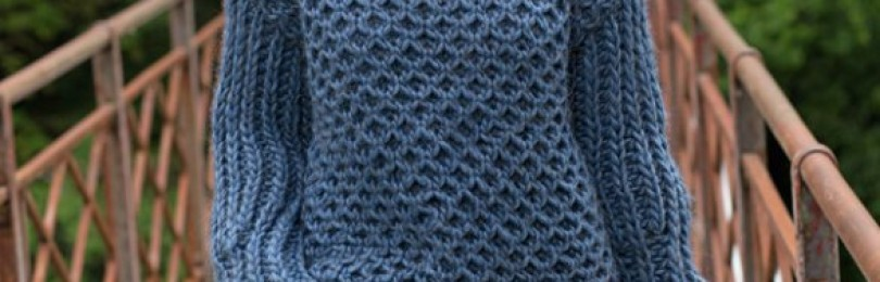 10 моделей свитеров крупной вязки спицами со схемами и описанием