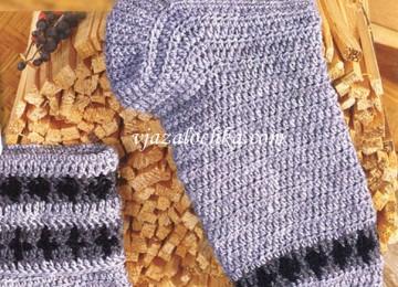 Вязание мужских носков крючком — описание и видео МК