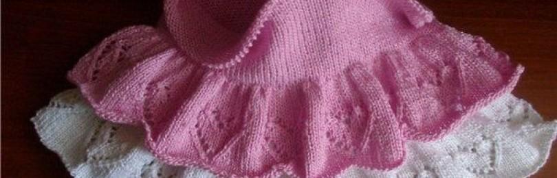 Пышная юбка с сердечками спицами