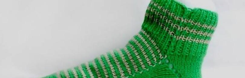 5 простых способов вязания носков на двух спицах