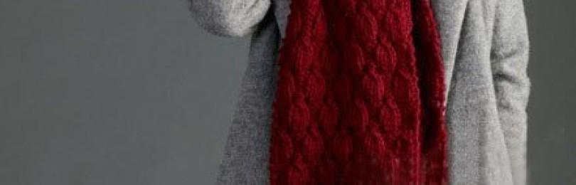 Вязки для шарфов спицами толстыми