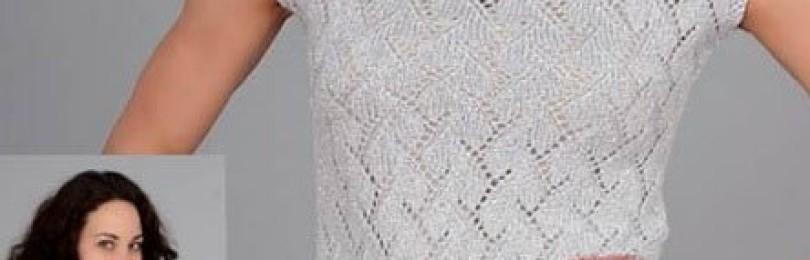 Вязание спицами летних кофточек из хлопка — 23 модели с описанием и схемами