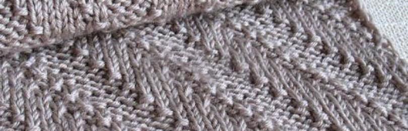 Узоры для шарфа спицами – 12 вариантов со схемами, описанием и видео МК