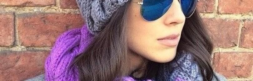 Зимняя шапка для женщин связанная спицами с градиентом – описание, фото и видео