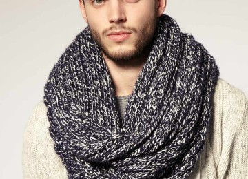 Снуд – практичный и стильный мужской шарф