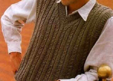 Мужские жилеты спицами со схемами и описанием