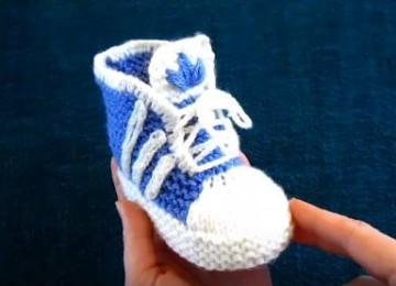 18 моделей пинеток спицами для новорожденных со схемами, описанием и видео