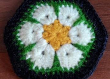 "Схема вязания крючком мотива ""Африканский цветок"": пошаговое описание выполнения с фото и видео МК"