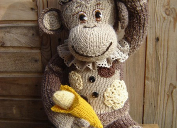 Как связать спицами забавную обезьянку