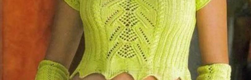 17 вариантов перчаток без пальцев длинных вязаных спицами со схемами, описанием и видео мк