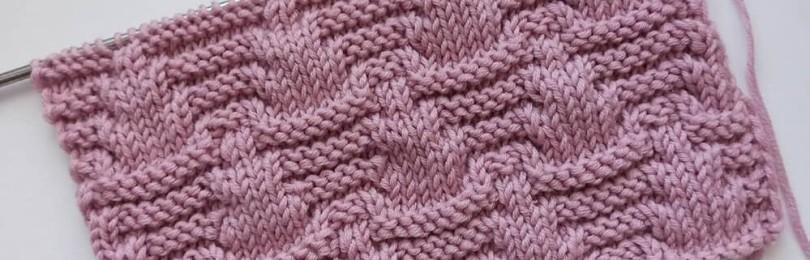 Оригинальный фактурный рельеф спицами для вязания пуловеров, джемперов, кардиганов