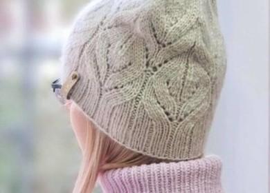 Красивые объёмные и рельефные узоры спицами для шапок в вашу копилочку