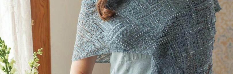 14 ажурных узоров для вязания палантинов