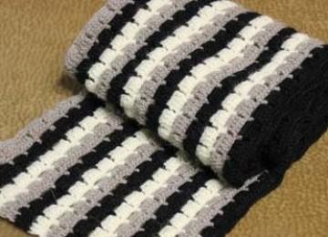 Мужские шарфы крючком – 5 оригинальных моделей с описанием