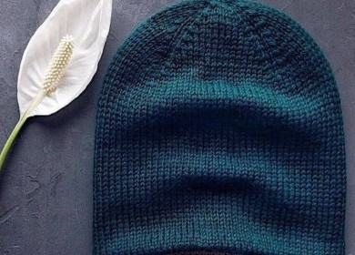 Простая и стильная мужская двойная шапка бини