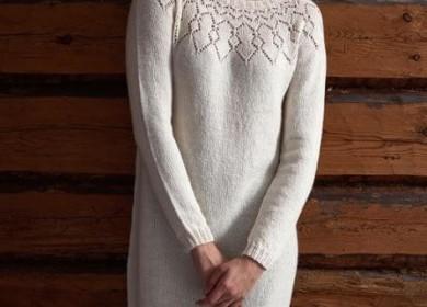 8 тёплых платьев для женщин вязанных спицами: подборка моделей на любой вкус