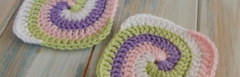 Узоры крючком для ковриков — 10 вариантов со схемами и описанием