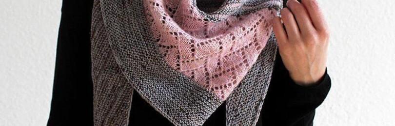 Ажурный бактус спицами: шейный шарф, косынка и платок в одном изделии