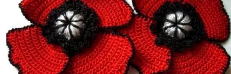 Цветы крючком для украшения одежды – варианты выполнения со схемами, описанием и видео МК