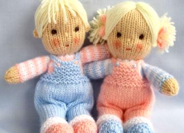 Вязаная кукла с описанием и схемами