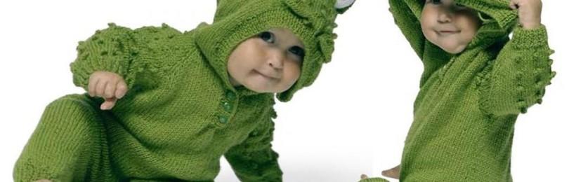 10 вариантов комбинезонов для малыша вязаных спицами со схемами, описанием и видео мк