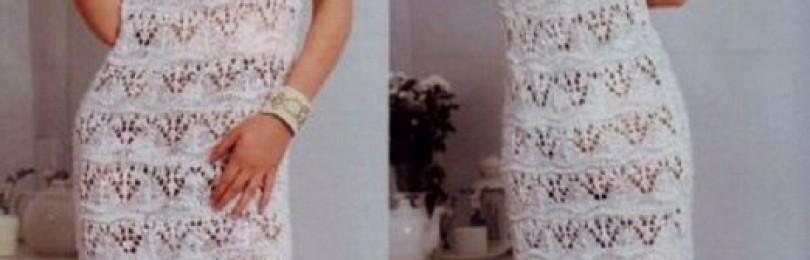 16 вариантов вязаных летних платьев со схемами и описанием