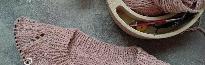 Красивый реглан: два способа вязания без швов спицами