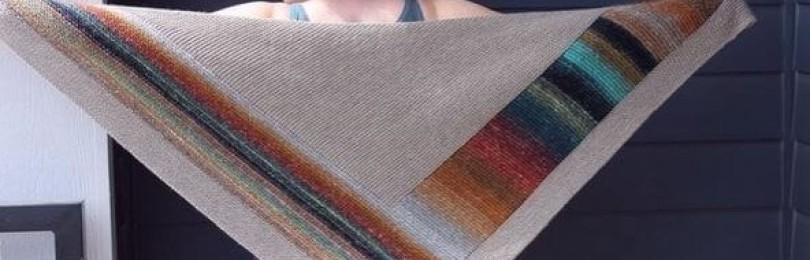 Завораживающая тёплая шаль геометрия спицами: к осени и зиме готовы (+9 красивых идей вязания шалей)