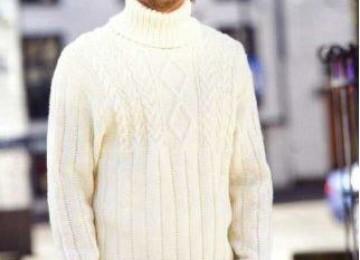 Как связать мужской молодежный свитер спицами со схемой, описанием и видео (3 модели)