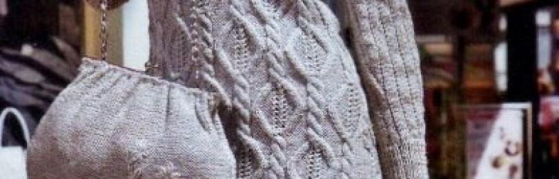 20 вариантов платьев вязаных спицами со схемами, описанием, видео мк
