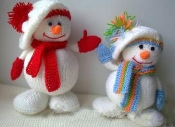 Мастер класс по вязанию снеговика спицами