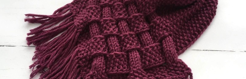Оригинальный снуд плетенка спицами: удиви своих подруг!