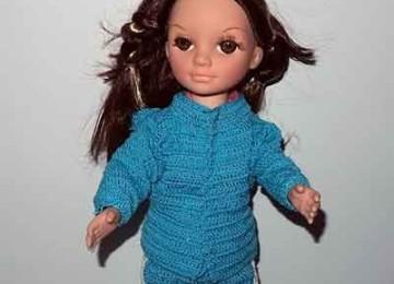 Как связать крючком кофточку для куклы