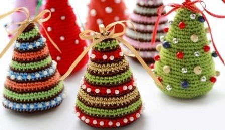 игрушки на елку вязанные