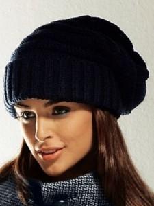 вязанные зимние шапки для женщин спицами