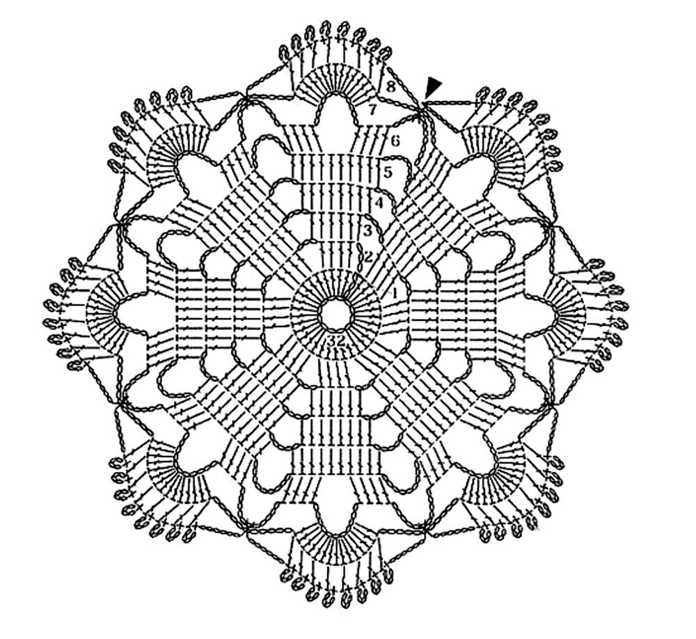 вязанные салфетки 2