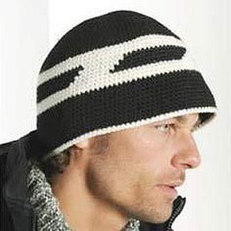 мужская шапка крючком2