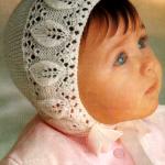 Как связать оригинальную шапочку для новорожденного спицами