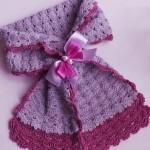 Вязание элегантного шарфика крючком для девочки