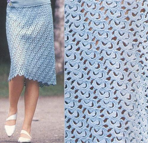 голубая юбка 2