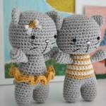 Котик амигуруми, кот аминеко и кот сердечко с описанием и схемами