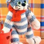 Вязание кота Матроскина крючком