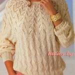Вязаные свитера спицами женские со схемами и описанием