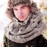 3 варианта мужского шарфа спицами